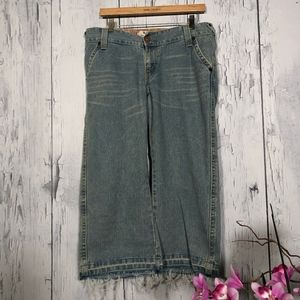 Levi's Vintage 504 Slouch Cropped Distress Jeans